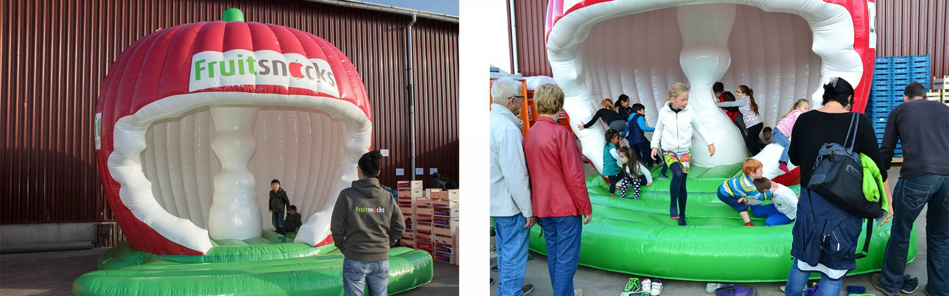 Giant inflatables are X-Treme Creations' core business.  Fruitsnacks X-Treme Creations