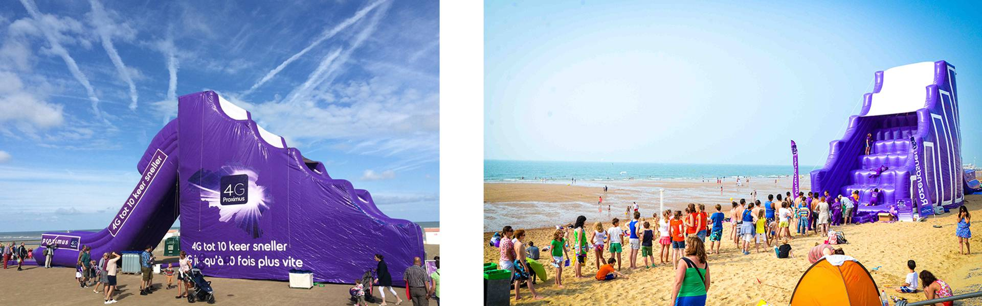 Giant inflatables are X-Treme Creations' core business.  Proximus Demonstr8 X-Treme Creations