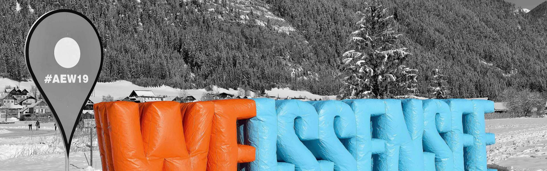 Large inflatable promotional material | X-Treme Creations Giant inflatable letters of 3 meters high of the word Weissensee X-Treme Creations