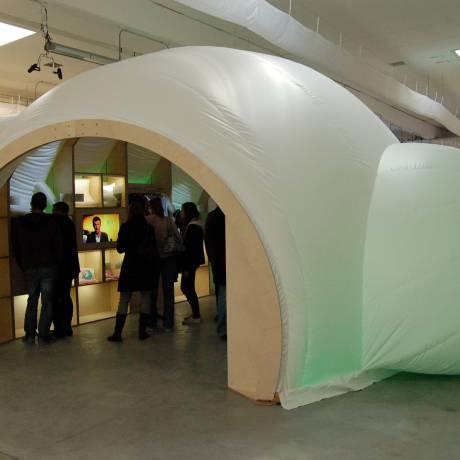 Foires commerciales Gonflables et impression comme matériel d'exposition iglo,  exposé, exposition, présentation du produit, salon X-Treme Creations