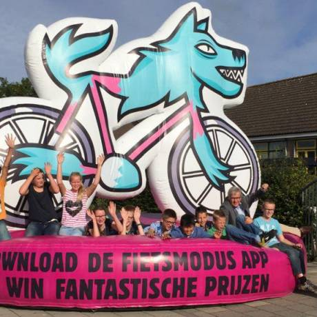 Merkactivatie Merkbekendheid optimaliseren fietsmodus, app X-Treme Creations