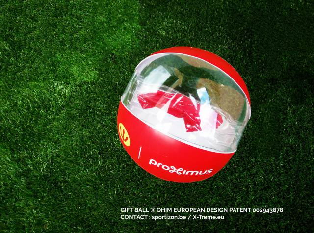 Promotion and gadgets Hand out merchandise at your event balls, belgian red devils, proximus X-Treme Creations