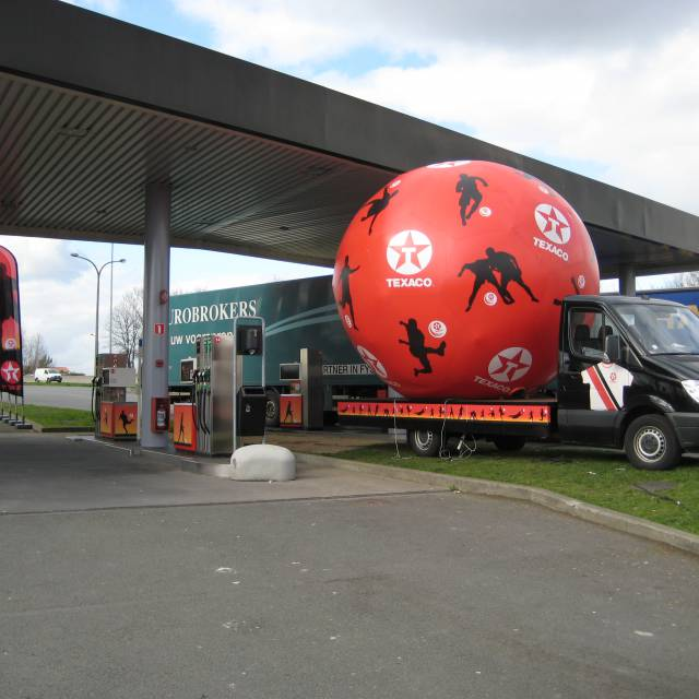 Giant inflatable spheres balls, inflatable balls, Texaco X-Treme Creations