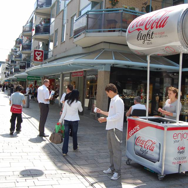 Miniature airtight inflatable productvergrotingen productvergrotingen, coca cola light X-Treme Creations