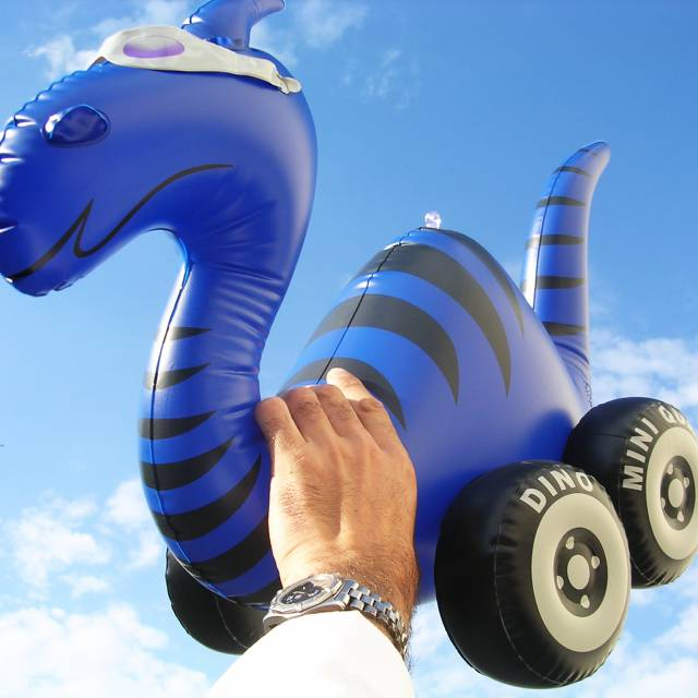 Miniature airtight inflatable mascots Euroquad, monster X-Treme Creations