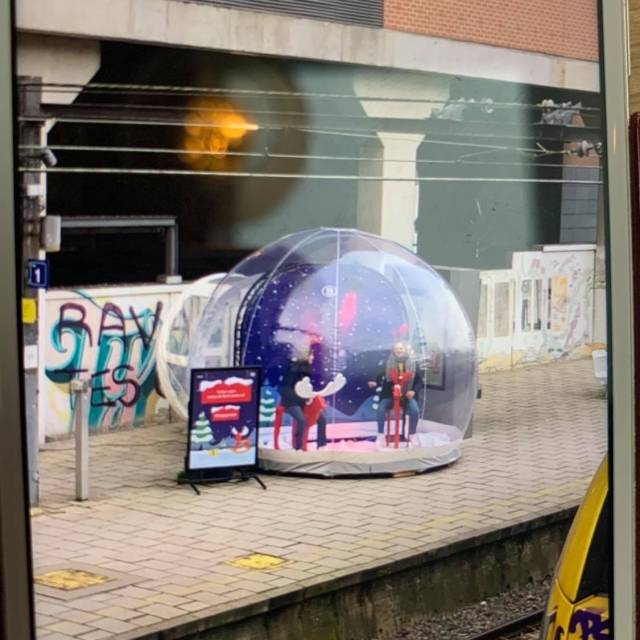 The transparent eyecatcher for your event! inflatable bubble used as photo booth X-Treme Creations