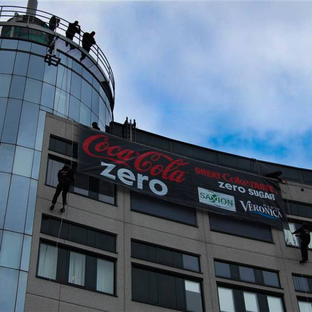 bannières imprimées en grand format Coca cola zero, Bâches publicitaires, Imprimeur Banderole X-Treme Creations