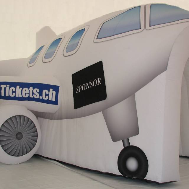Giant inflatable standen Stand, opblaasbare stand, cheap tickets, vliegtuigstand X-Treme Creations