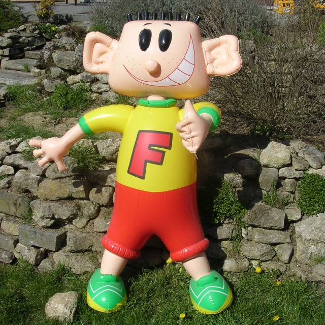 Miniature airtight inflatable mascots Mister Fritt X-Treme Creations