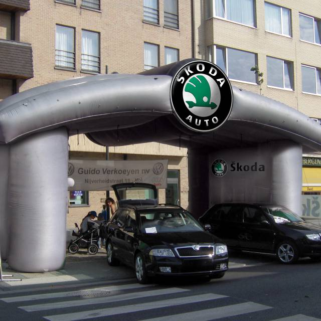 Giant inflatable stands Skoda, stall, stand, tent, sales tent X-Treme Creations