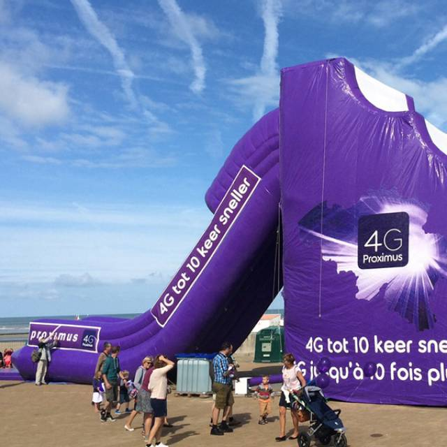 Proximus Slide Gigantische opblaasobjecten X-Treme Creations