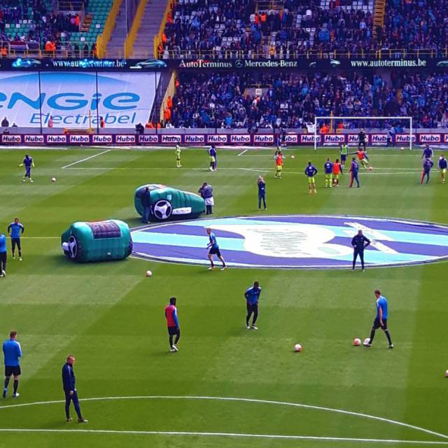 Combine print and inflatable Automatic mowers, Football, 2D and 3D, sport, stadium X-Treme Creations