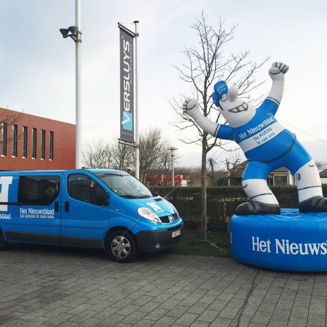 Giant inflatable mascottes and characters Nieuwsblad, Characters, Inflatable Character, Mascots, Inflatable Mascots, Personage, Inflatable Personage, Figure, Inflatable Figure X-Treme Creations