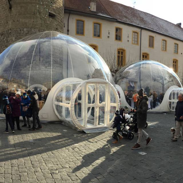 The transparent eyecatcher for your event! 8m and 10m transpartent bubble X-Treme Creations
