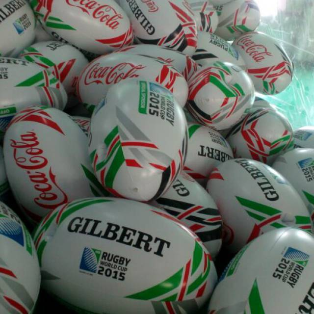 Miniature airtight inflatable balls Coca Cola, sodas, rugby X-Treme Creations