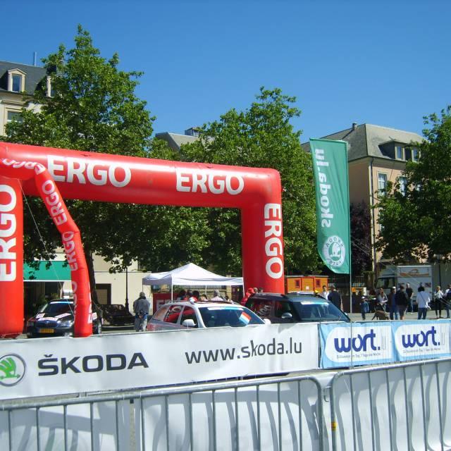Large format print skydancer Skoda, Ergo, Skytubes, fly tubes, dynamic tubes, flyguys X-Treme Creations