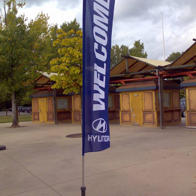 Large format print flags Hyundai, Welcome, Flags, Printed Flags X-Treme Creations