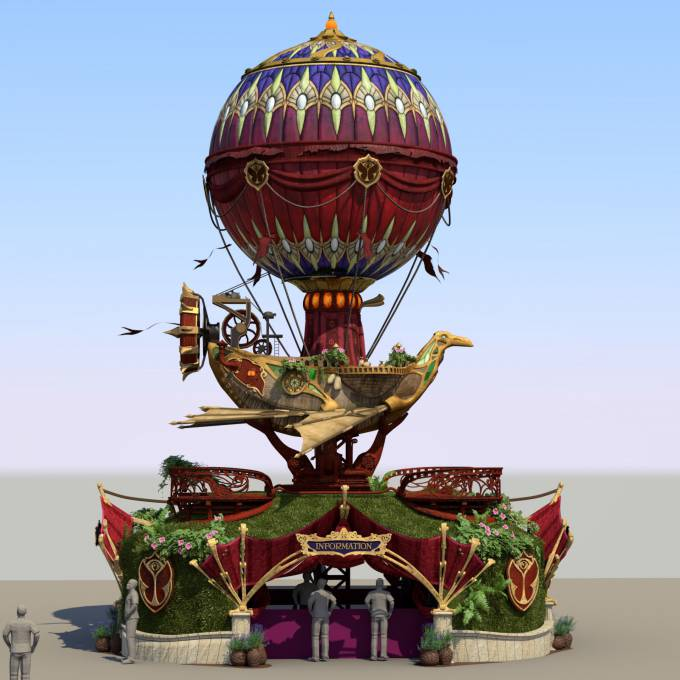 Groot opblaasbaar promotiemateriaal | X-Treme Creations Festivals  & Events  &  ID&T Tomorrowland X-Treme Creations