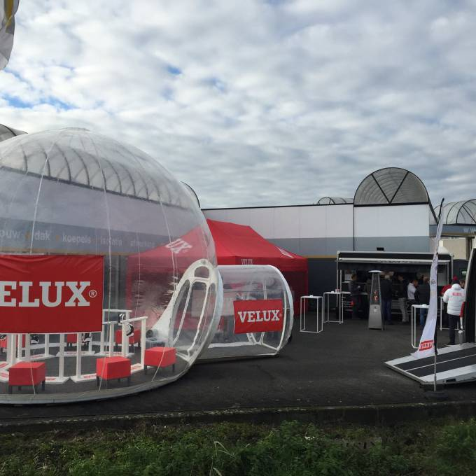 Large inflatable promotional material | X-Treme Creations Roadshow bubble Events  & Fairs  & Festivals  & Brand activation  &  De Meuter Wave X-Treme Creations