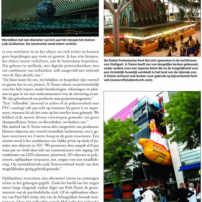 Inflatables in the media X-Treme Creations