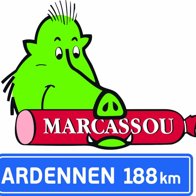 Groot opblaasbaar promotiemateriaal | X-Treme Creations Visuele tekening van het opblaasbare Marcassou-zwijn Bedrijfsidentiteit  & Merkactivatie  &  Imperial Meat Products (Part of Campofrio Food Group) X-Treme Creations
