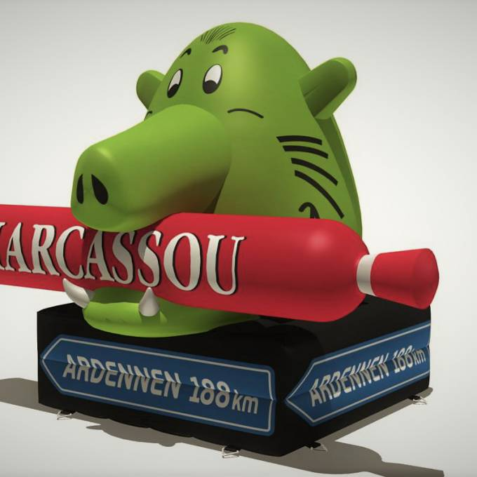 Large inflatable promotional material | X-Treme Creations Visual drawing of the inflatable Marcassou boar Corporate branding  & Brand activation  &  Imperial Meat Products (Part of Campofrio Food Group) X-Treme Creations